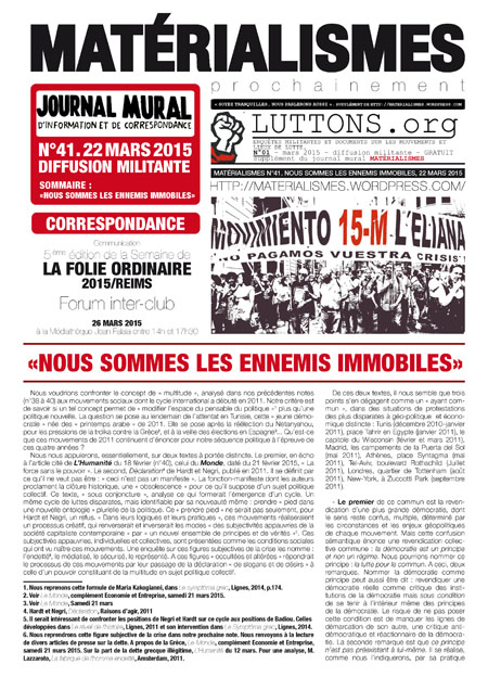 A4.MATERIALISMES.N°41 NOUS SOMMES LES ENNEMIS IMMOBILES_Page_1